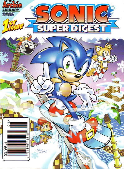 Cover for Sonic Super Digest (Archie, 2012 series) #1 [Newsstand]