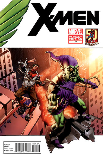 Cover for X-Men (Marvel, 2010 series) #30 [Amazing Spider-Man In Motion Variant Cover by Mike Perkins]