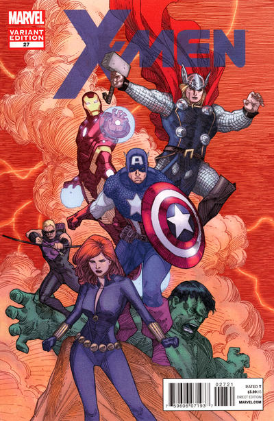 Cover for X-Men (Marvel, 2010 series) #27 [Avengers Art Appreciation Variant Cover by Khoi Pahm]