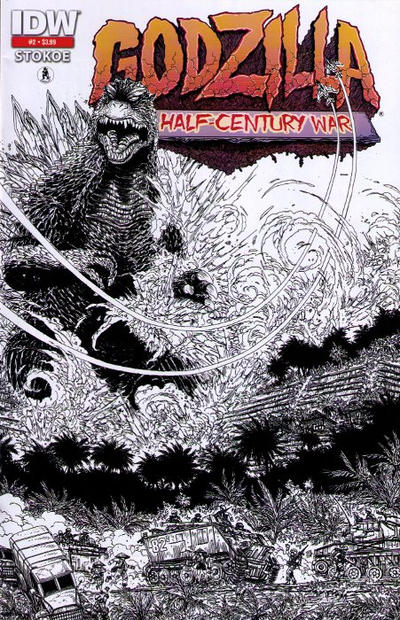 Cover for Godzilla: The Half-Century War (IDW, 2012 series) #2 [Second printing]