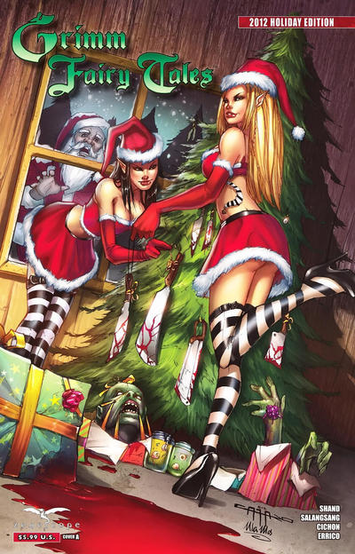 Cover for Grimm Fairy Tales Holiday Edition (Zenescope Entertainment, 2009 series) #4 [Cover B Marat Mychaels]