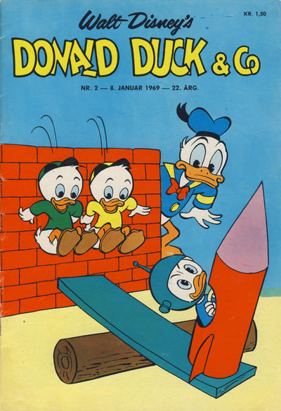 Cover for Donald Duck & Co (Hjemmet / Egmont, 1948 series) #2/1969