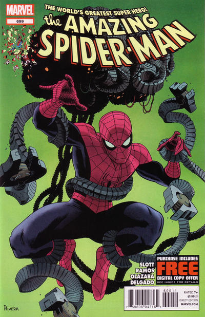 Cover for The Amazing Spider-Man (Marvel, 1999 series) #699 [Newsstand]