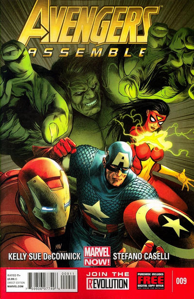 Cover for Avengers Assemble (Marvel, 2012 series) #9 [Wraparound Movie Photo Variant Cover]