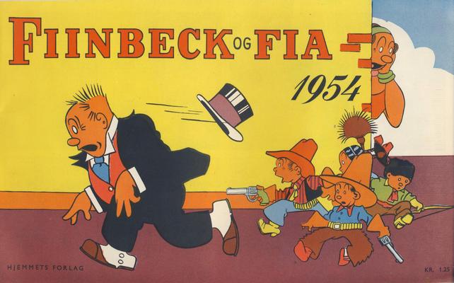 Cover for Fiinbeck og Fia (Hjemmet, 1930 series) #1954