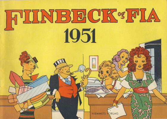 Cover for Fiinbeck og Fia (Hjemmet / Egmont, 1930 series) #1951