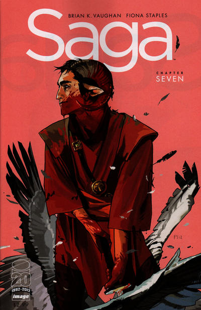 Cover for Saga (Image, 2012 series) #7 [Ghost Variant by Paul Pope]