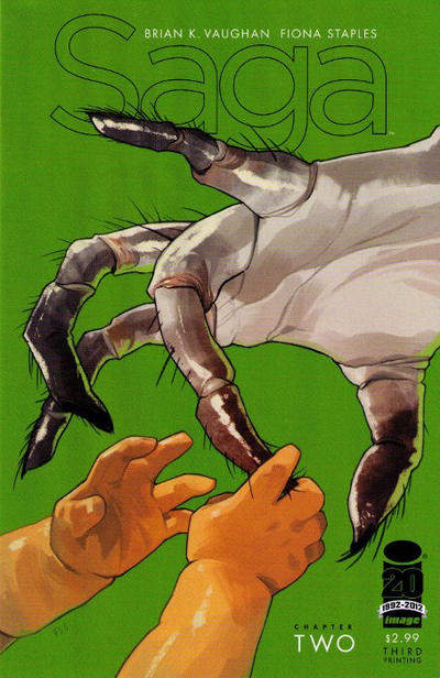 Cover for Saga (Image, 2012 series) #2 [2nd Printing]