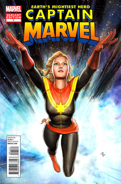 Cover for Captain Marvel (Marvel, 2012 series) #1 [Adi Granov Variant]