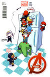 Cover Thumbnail for Avengers (2013 series) #1 [Variant Cover by Skottie Young]