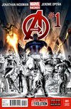 Cover Thumbnail for Avengers (2013 series) #1 [Retailer Party Variant Cover by Dustin Weaver]