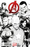 Cover Thumbnail for Avengers (2013 series) #1 [Sketch Variant Cover by Steve McNiven]