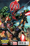 Cover Thumbnail for Avengers (2013 series) #1 [Midtown Comics Exclusive Variant Cover by J. Scott Campbell]