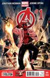 Cover Thumbnail for Avengers (2013 series) #1 [Deadpool Gangnam Style Variant Cover by Mark Brooks & Dustin Weaver]