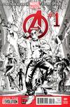 Cover Thumbnail for Avengers (2013 series) #1 [Deadpool Gangnam Style Sketch Variant Cover by Mark Brooks & Dustin Weaver]