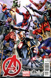 Cover Thumbnail for Avengers (2013 series) #1 [Hastings Variant Cover by Greg Land]