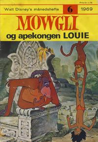 Cover Thumbnail for Walt Disney's Månedshefte (Hjemmet / Egmont, 1967 series) #6/1969