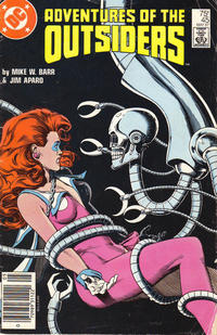 Cover Thumbnail for Adventures of the Outsiders (DC, 1986 series) #45 [Newsstand]
