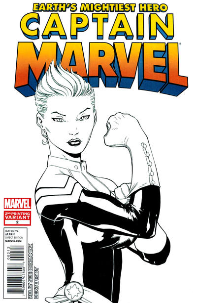 Cover for Captain Marvel (Marvel, 2012 series) #2 [2nd printing variant cover]