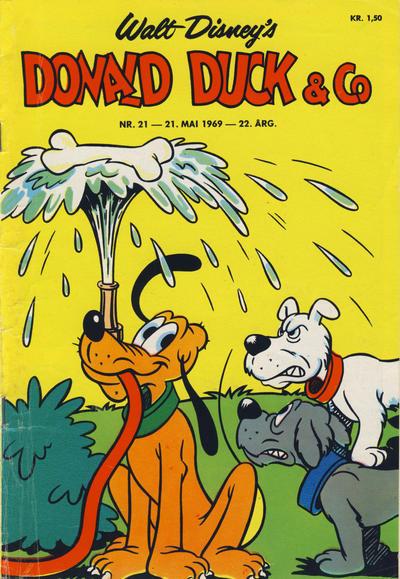 Cover for Donald Duck & Co (Hjemmet / Egmont, 1948 series) #21/1969