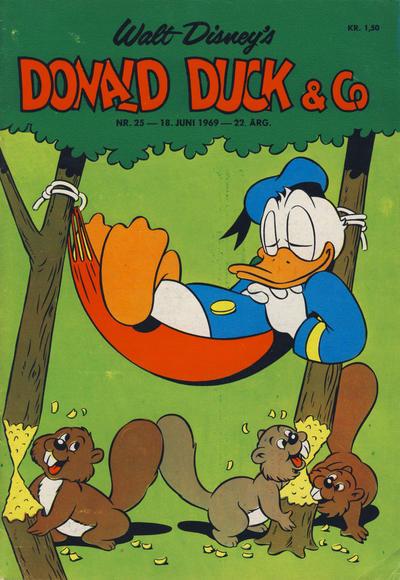 Cover for Donald Duck & Co (Hjemmet / Egmont, 1948 series) #25/1969