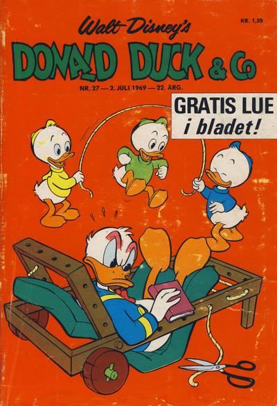 Cover for Donald Duck & Co (Hjemmet / Egmont, 1948 series) #27/1969