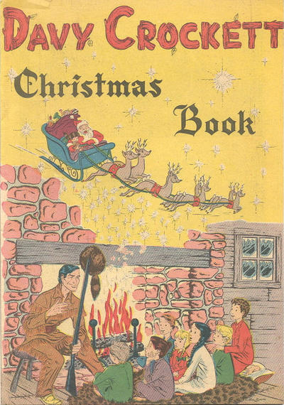 Cover for Davy Crockett Christmas Book (Dell, 1955 ? series)