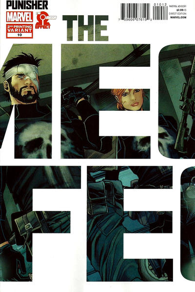 Cover for The Punisher (Marvel, 2011 series) #10 [Direct Edition - Marco Checchetto Cover]