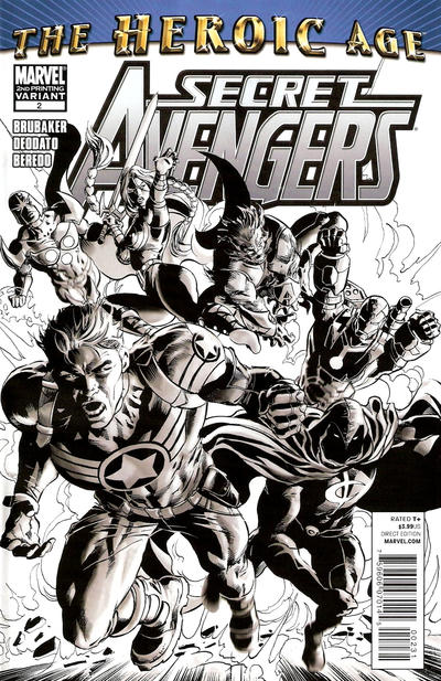 Cover for Secret Avengers (Marvel, 2010 series) #2 [2nd Printing Cover by Mike Deodato]