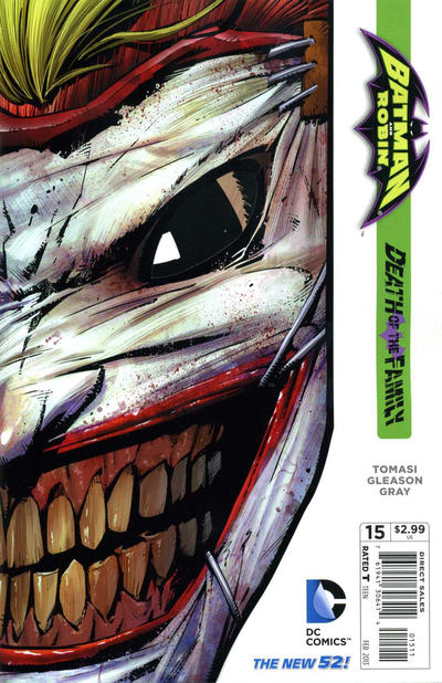 Cover for Batman and Robin (DC, 2011 series) #15 [Newsstand Edition]
