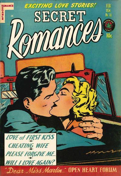 Cover for Secret Romances (Superior Publishers Limited, 1951 series) #18