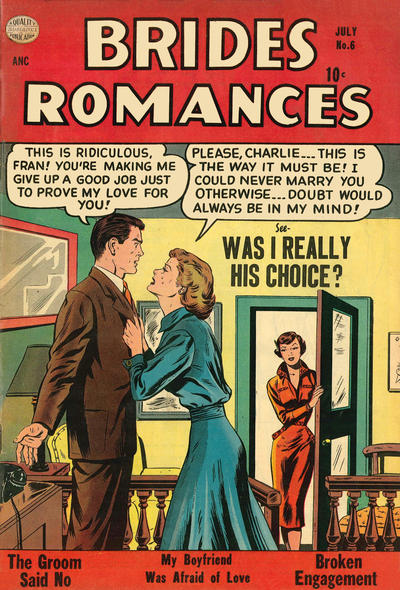 Cover for Brides Romances (Quality Comics, 1953 series) #6