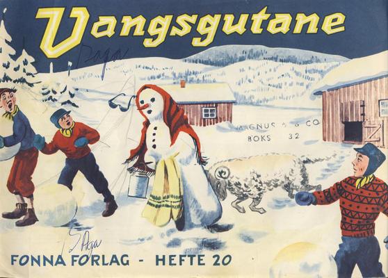 Cover for Vangsgutane (Fonna Forlag, 1941 series) #20