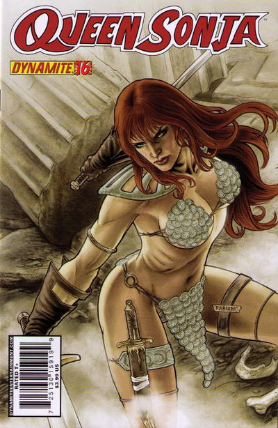 Cover for Queen Sonja (Dynamite Entertainment, 2009 series) #16 [Carlos Rafael Cover]