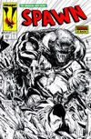 Cover for Spawn (Image, 1992 series) #222 [Cover B - B&W Incentive Variant by Todd McFarlane]