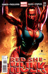 Cover for Red She-Hulk (Marvel, 2012 series) #58 [Variant Cover by Greg Horn]