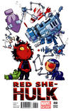 Cover for Red She-Hulk (Marvel, 2012 series) #58 [Variant Cover by Skottie Young]
