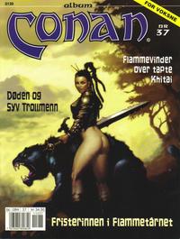 Cover Thumbnail for Conan album (Bladkompaniet / Schibsted, 1992 series) #37 - Flammevinder over tapte Khitai