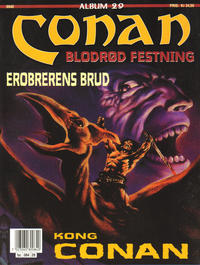 Cover Thumbnail for Conan album (Bladkompaniet / Schibsted, 1992 series) #29 - Blodrød festning