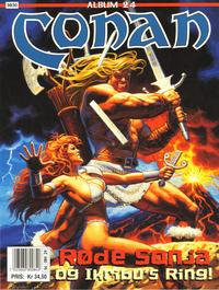 Cover Thumbnail for Conan album (Bladkompaniet / Schibsted, 1992 series) #24 - Røde Sonja og Ikribu's ring!