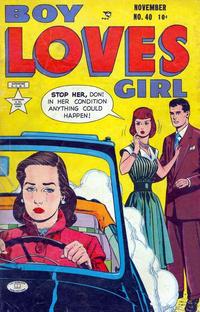 Cover for Boy Loves Girl (Lev Gleason, 1952 series) #40