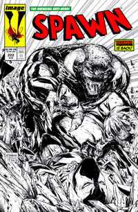 Cover Thumbnail for Spawn (Image, 1992 series) #222 [Cover B - B&W Incentive Variant by Todd McFarlane]