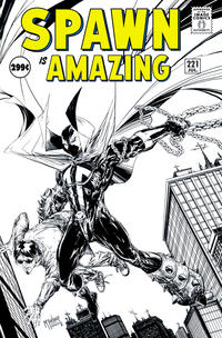 Cover Thumbnail for Spawn (Image, 1992 series) #221 [Cover B - B&W Incentive Variant by Todd McFarlane]