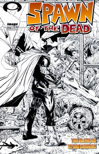 Cover Thumbnail for Spawn (Image, 1992 series) #223 [Cover B - B&W Incentive Variant by Todd McFarlane]
