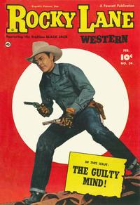 Cover Thumbnail for Rocky Lane Western (Fawcett, 1949 series) #34