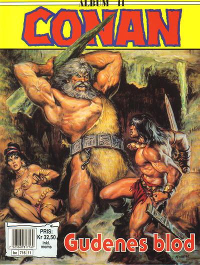 Cover for Conan album (Bladkompaniet / Schibsted, 1992 series) #11 - Gudenes blod