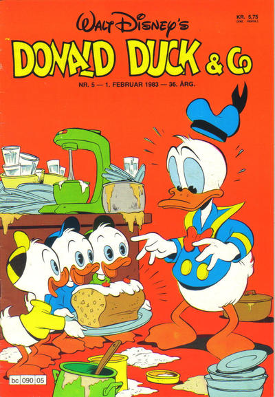 Cover for Donald Duck & Co (Hjemmet / Egmont, 1948 series) #5/1983