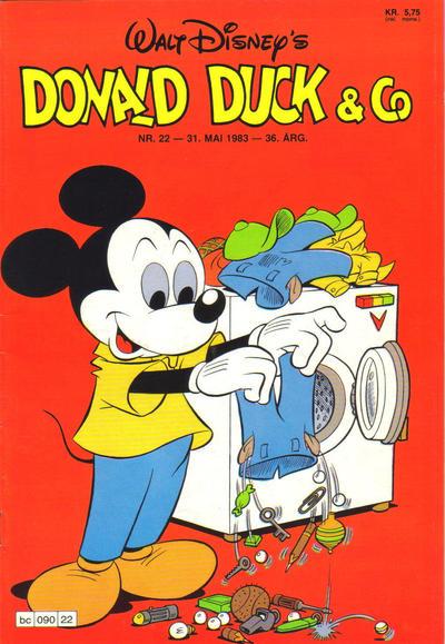 Cover for Donald Duck & Co (Hjemmet / Egmont, 1948 series) #22/1983