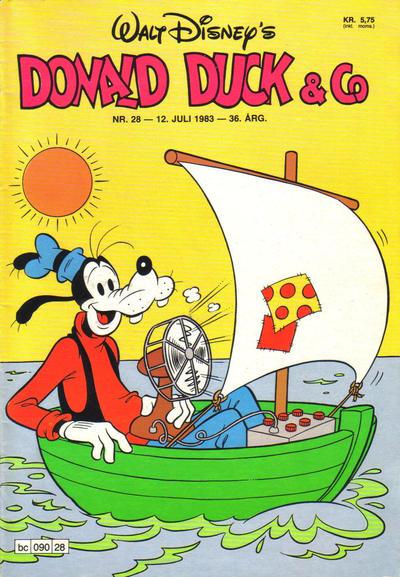 Cover for Donald Duck & Co (Hjemmet / Egmont, 1948 series) #28/1983