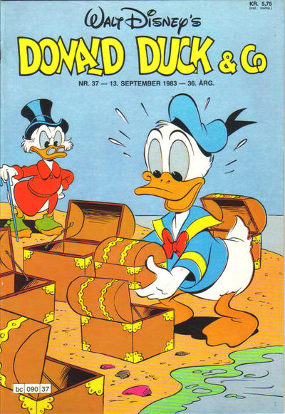 Cover for Donald Duck & Co (Hjemmet / Egmont, 1948 series) #37/1983
